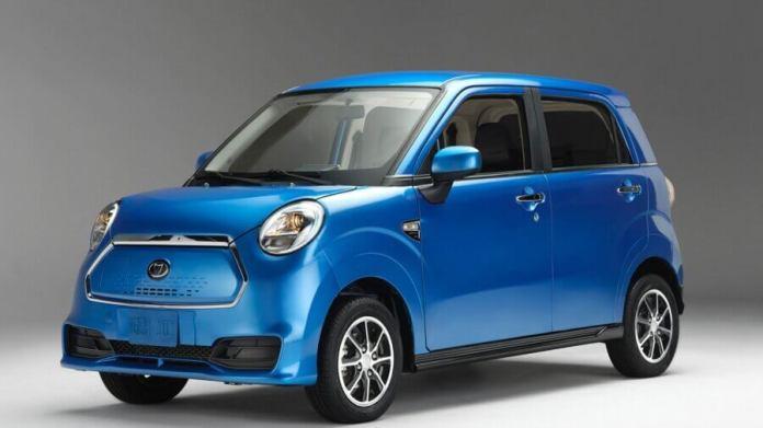 electric car Kandi blue
