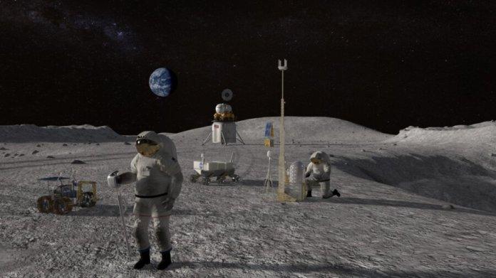 NASA lunar lander moon mission space
