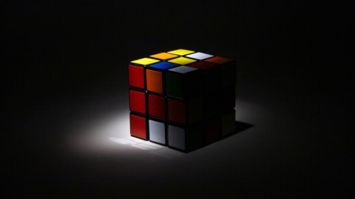 ai black box rubiks cube shadow