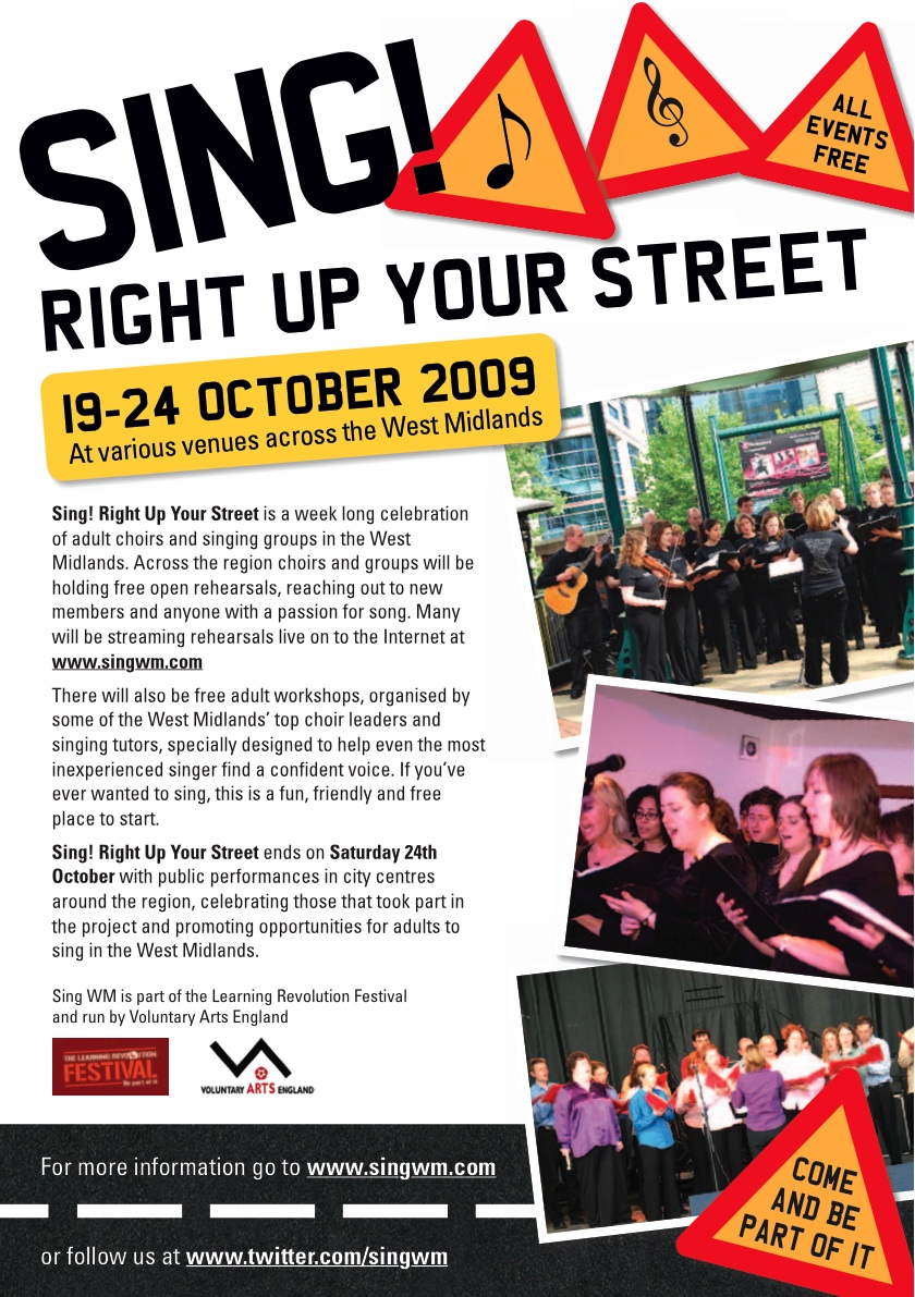 Sing! Right Up Your Street Flyer