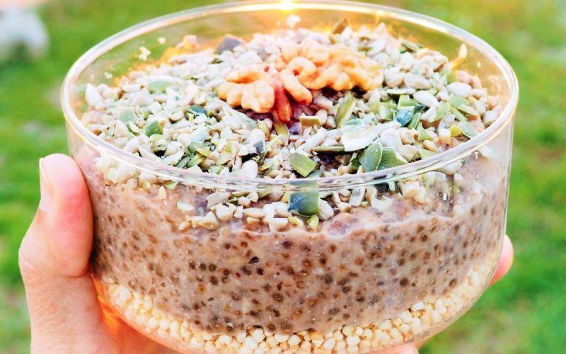 porridge de avena y trigo sarraceno