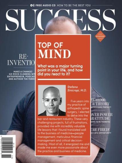 dr. sinicropi in success magazine