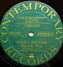 sinister vinyl collection sonny rollins way out west 1957  [ 2503 x 2547 Pixel ]