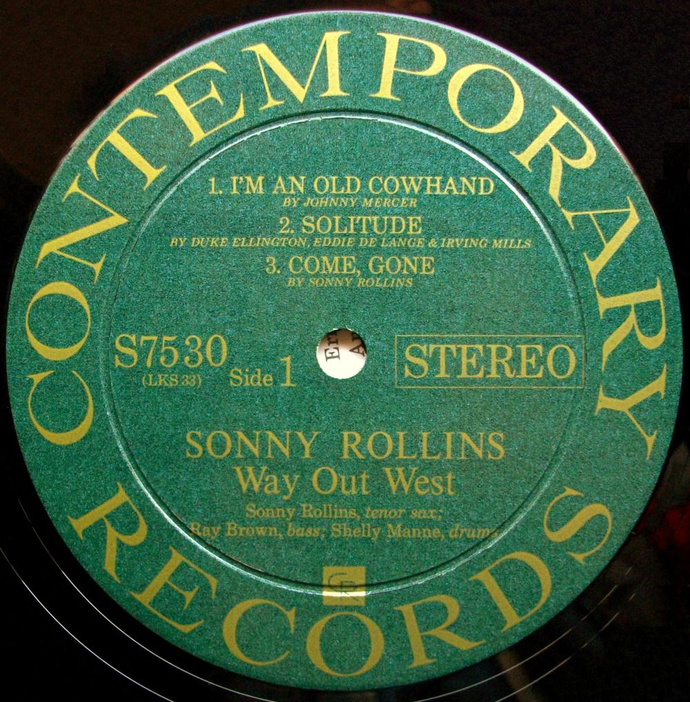 medium resolution of sinister vinyl collection sonny rollins way out west 1957