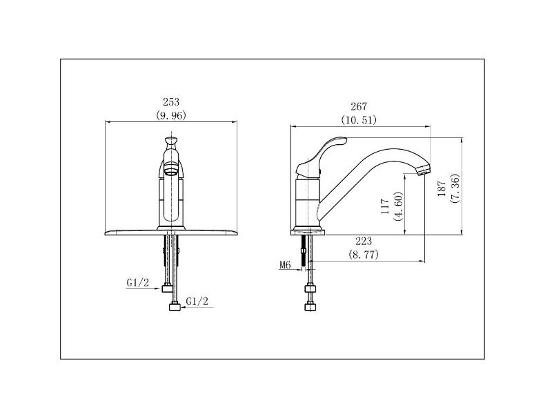 Single Handle Kitchen Faucet- KSK8112C
