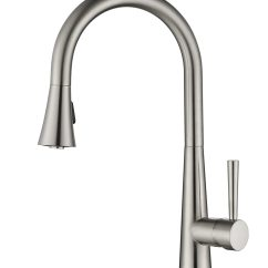 Single Handle Pulldown Kitchen Faucet Chocolate Cabinets Pull Down Ksk1123bn  Oakland