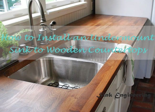 how to install an undermount sink in a
