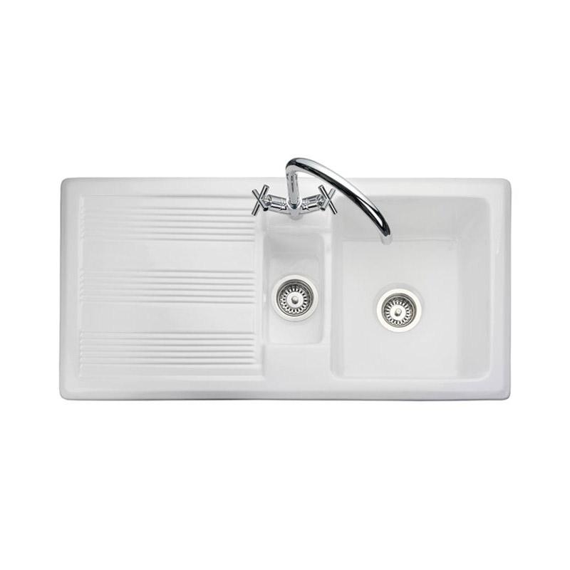 Rangemaster Portland 15 Bowl Ceramic Sink  Sinkstapscom