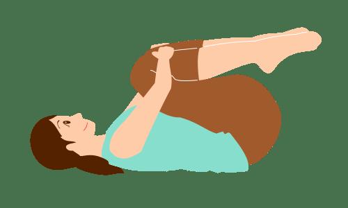 腰痛体操-ひざかかえ