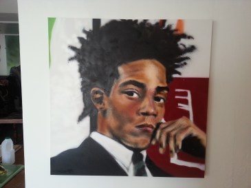 Basquiat Canvas for the ICONS show. Feb 2014.