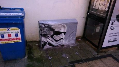 Star wars tribute. Box art. Brighton. 2016.