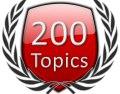 Start 200 Forum Topics Icon