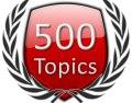 Start 500 Forum Topics Icon