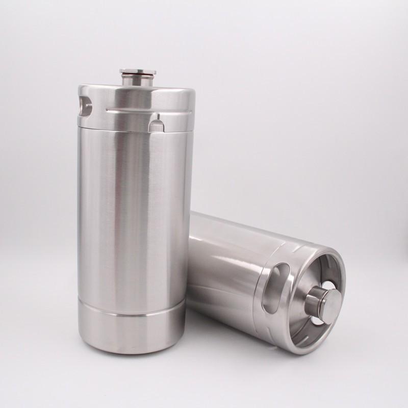 128 Oz Pressurized 1 Gallon Stainless Steel Mini Keg
