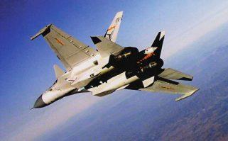 PLANAF J-15 in flight