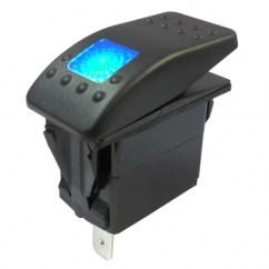 Illuminated Marine Rocker Switches Bathroom Wiring Diagram Waterproof Switch On Off Ip67 Blue 12v Single Pole 12 24v