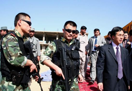 Every bit as important as the Yalu? Chinese guards in Afghanistan. | Via Chinese Defense Mashup.com