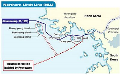 A political and security hot potato, the Northern Limit Line | image via Monster Island