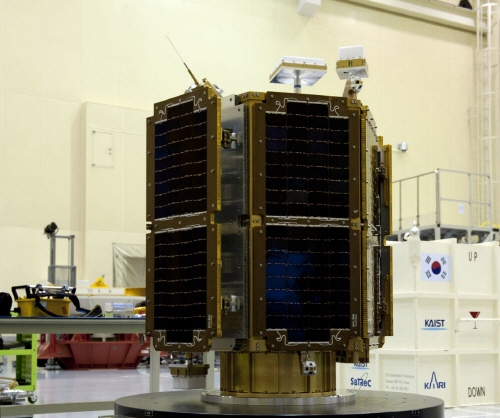 The ROK's self-launched satellite, STSAT-2C | image via Wikipedia