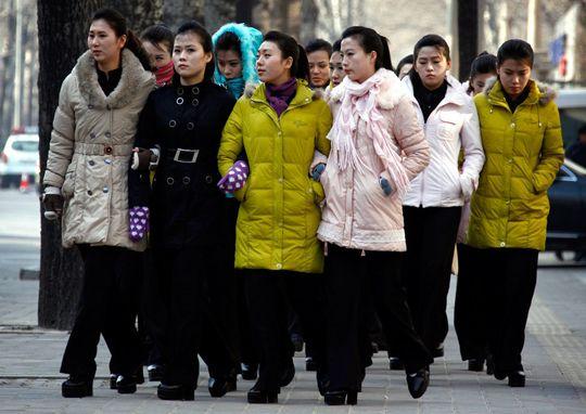 North Korean Women; image via JoongAng Ilbo