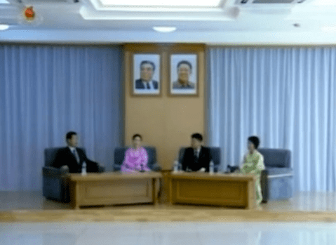 The spacious living room where all is revealed | image: Korean Central Television screen capture