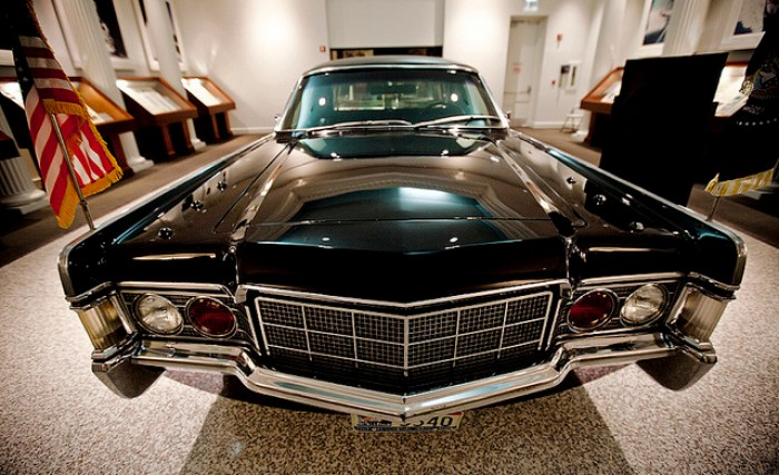 Richard Nixon's 1967 armoured Lincoln limousine | Image courtesy Nixon Presidential Library & Megadeluxe