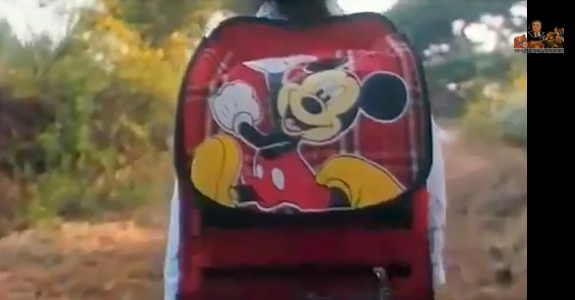Su-ryeon's Mickey Mouse backpack enjoys top billing. | Image: North Korea's YouTube Channel