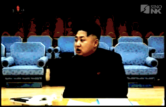 Kim Jong-un within the Distorted yet Present reality of the Songun Era | Original Image: KCTV