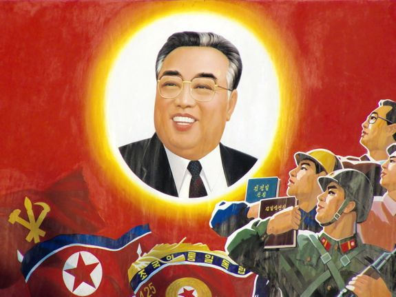 Let's arm ourselves even more thoroughly with the revolutionary ideology of the Great Suryeong, comrade Kim Il-sung. | Image: Wikicommons