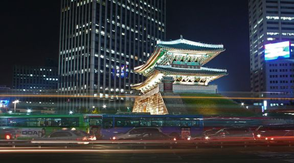 "Seoul's Namdaemun (South Gate). The epitome of a ""bright lights, big city"" infrastructure and atmosphere. Image: TylerDurden1/Wikipedia, Creative Commons 2.0"