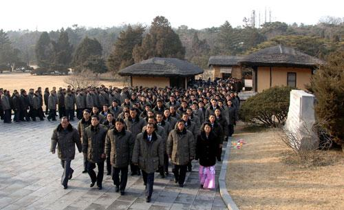 Subwork team visit Mangyongdae