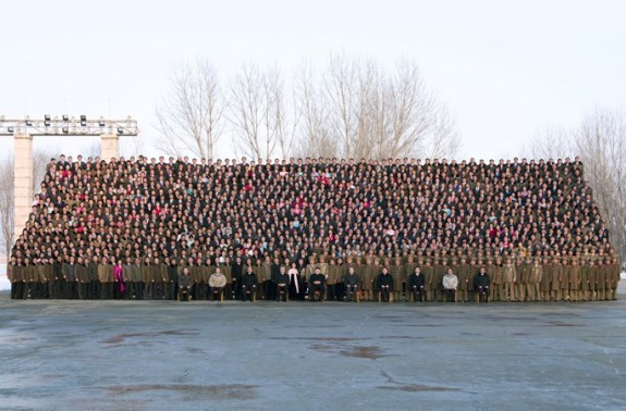Subworkteam Leaders and Kim Jong-un - LARGE PHOTO