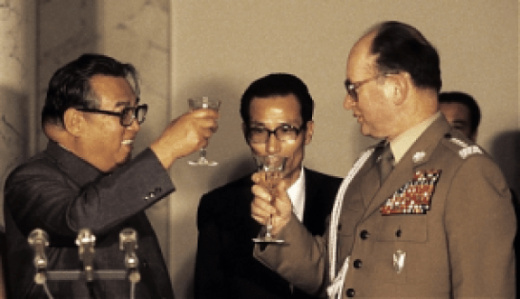 Wojciech Jaruzelski and Kim Il-Sung – Photo credit: Chris Niedenthal/FORUM