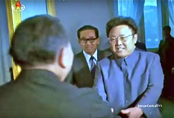 Kim Jong-il meets Deng Xiaoping, Beijing, 1983; image via Chosun Central TV