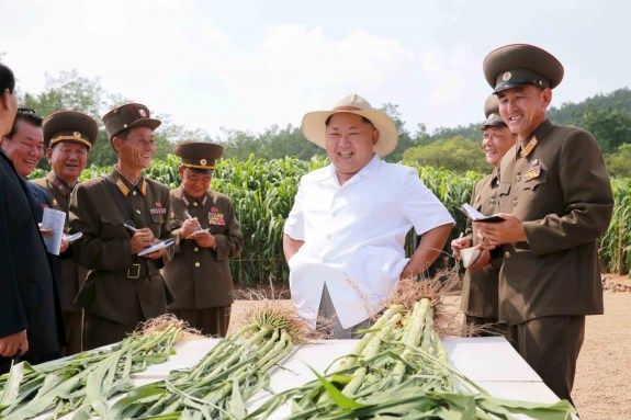 Weather permitting, North Korea's agricultural production is likely to rise, But it isn't going to bring a brave new dawn. | Image: KCNA