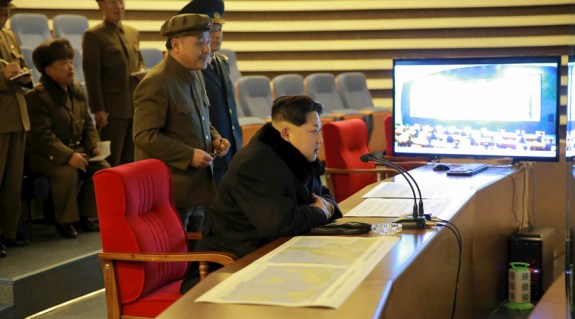 Kim Jong-un watches as North Korea launches a long-range rocket in February, 2016. While the North Korean leader's reaction was seemingly one of impression, none of the other countries in the region were amused by this. Yet their differing approaches to one another reveal some interesting fissures. | Image: KCNA