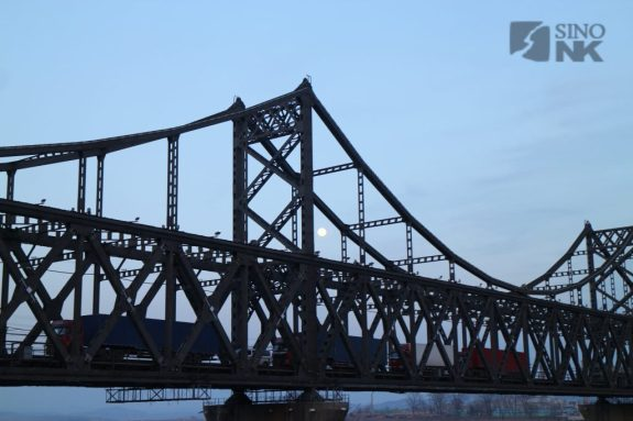 Business across the old rail and road bridge at Dandong can sometimes seem very brisk, as Lee writes. But it is not like this all the time. | Image: Destination Pyongyang