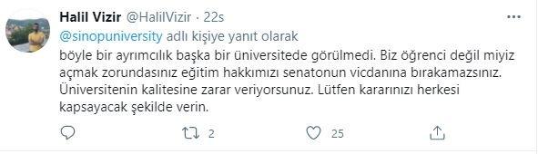 Sinop'ta üniversitenin yüz yüze eğitim anketi öğrencilerden tepki çekti
