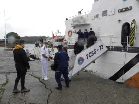 Sahil Güvenlik arama çalışmalarına kayıpların yakınları da katıldı
