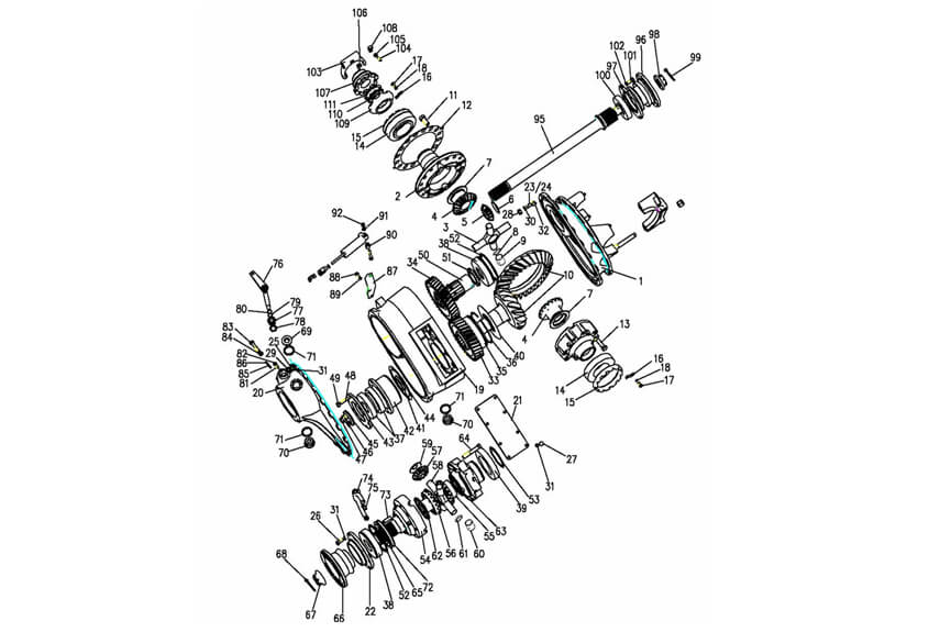 ST16 Middle Axle Driving, Howo Parts Catalogue-Parts