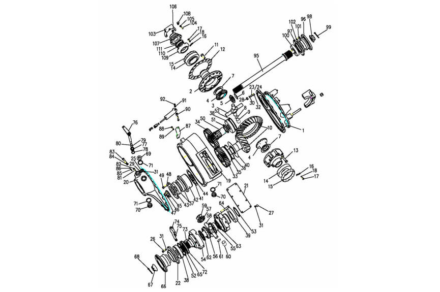 HC16 Middle Axle Driving, Sinotruk Catalogue-Parts