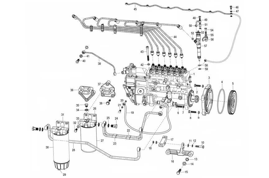 Fuel Supply System, Sinotruk Parts Catalogue-Parts