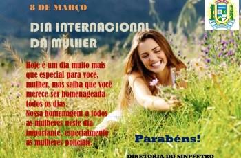 Mensagem do Sinpfetro para o dia das Mulheres! #Parabéns Mulheres