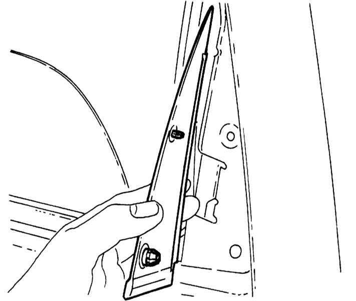 13.19 Снятие и установка стекла задней двери (модель Corsa
