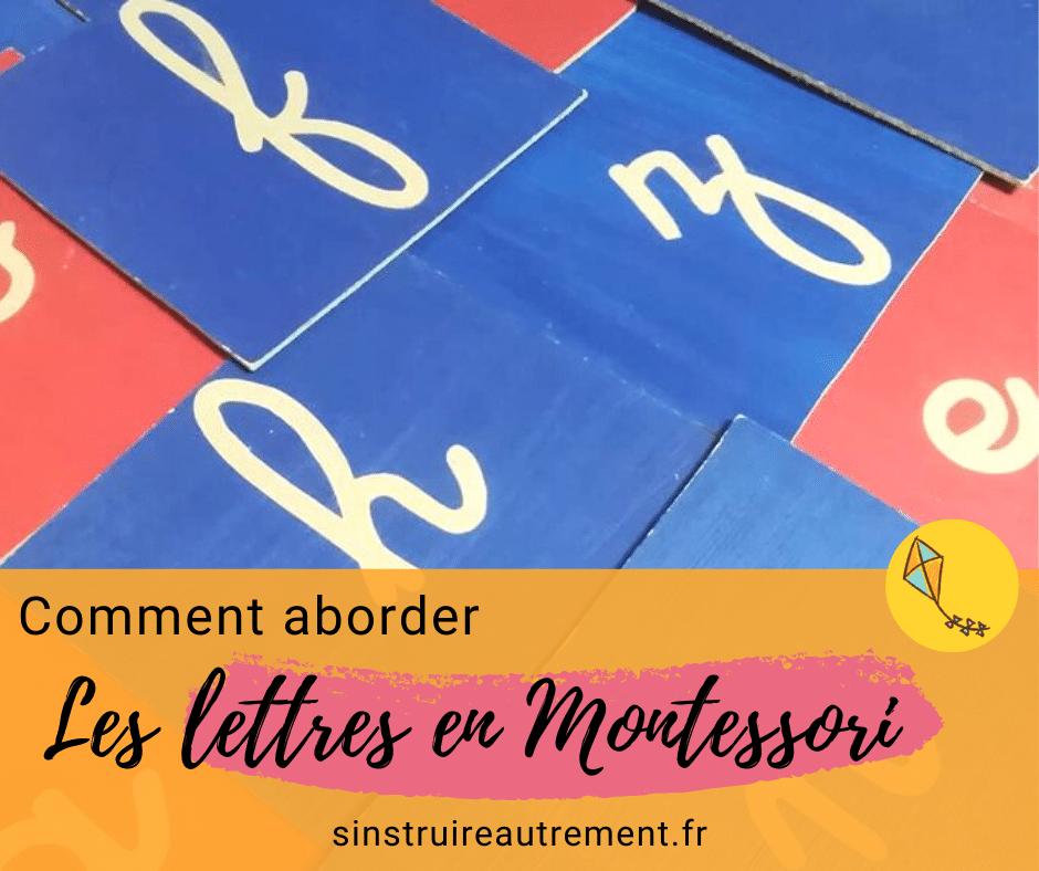 Comment aborder les lettres en Montessori ?