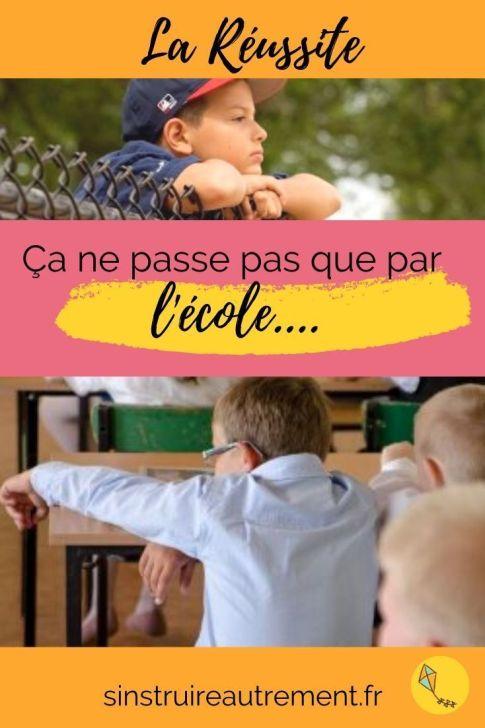 la réussite de tes enfants ne passe pas que par lécole... Il y a bien plus intéressant que la réussite scolaire à leur transmettre !