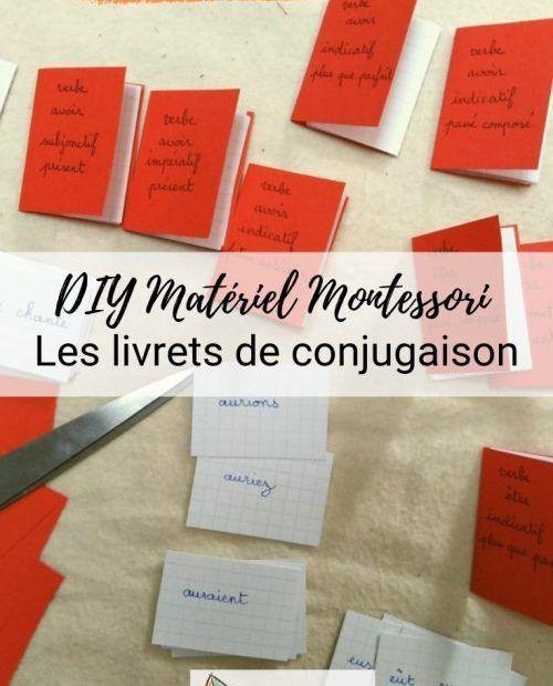 DIY matériel montessori conjugaisons