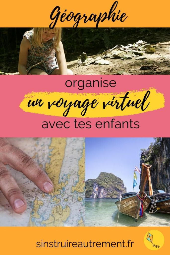 visite des pays lointains sans bouger de chez toi ! Le voyage virtuel : une super activité de géographie pour les enfants de tous âges.