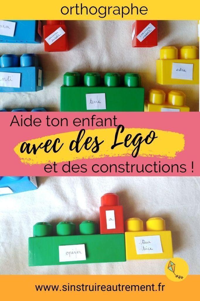 la construction de mots avec des Lego aide les enfants de primaire et collège à progresser en orthographe de façon impressionnante !
