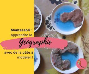 Montessori : la géographie des formes de la Terre